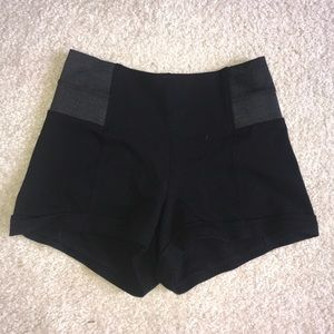 Pants - Black Shorts with Spandex on sides